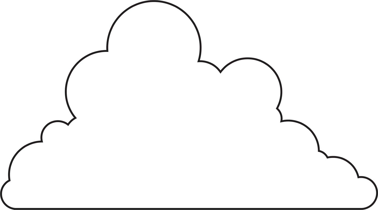 Rain Cloud Template Printable