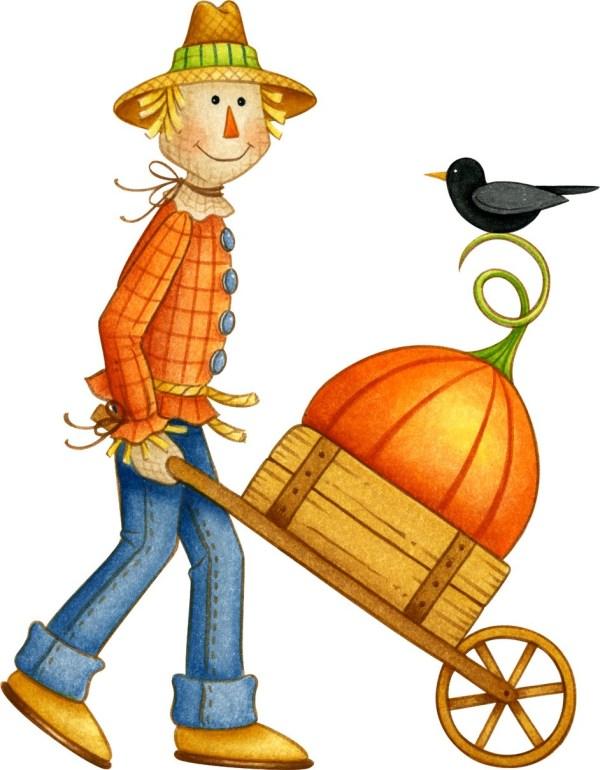 happy scarecrow clipart