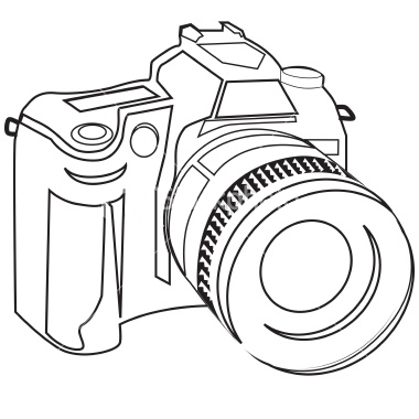 Sketched Camera Clip Art