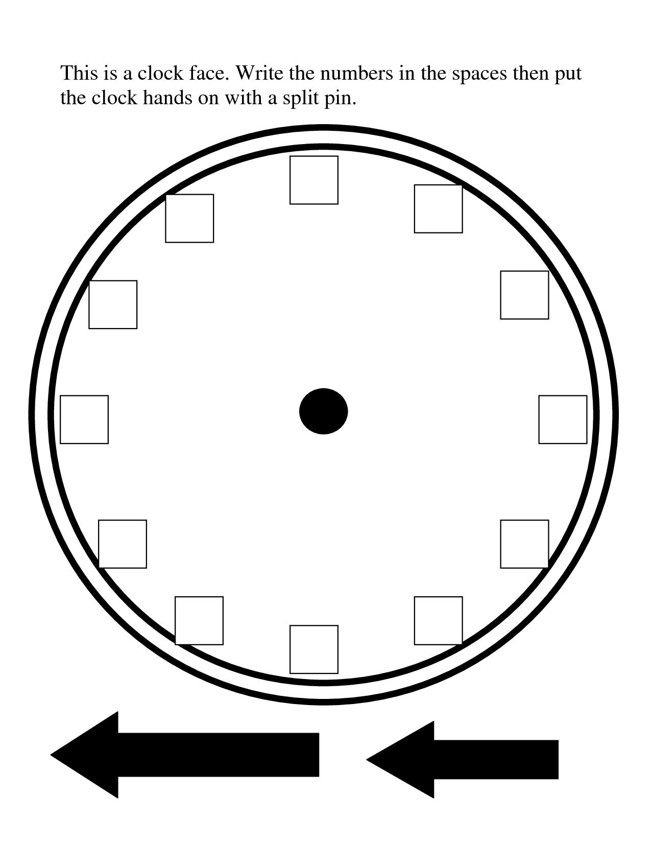 Printable Blank Clock Face
