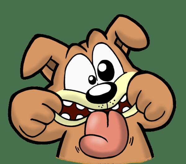 cartoon silly faces - clipart