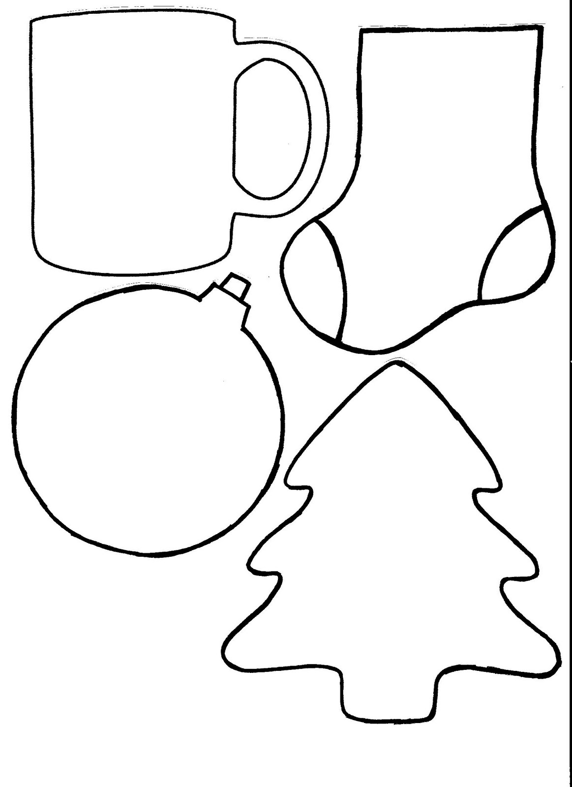 Christmas Tags Shapes Templates To Print And Color Coloring