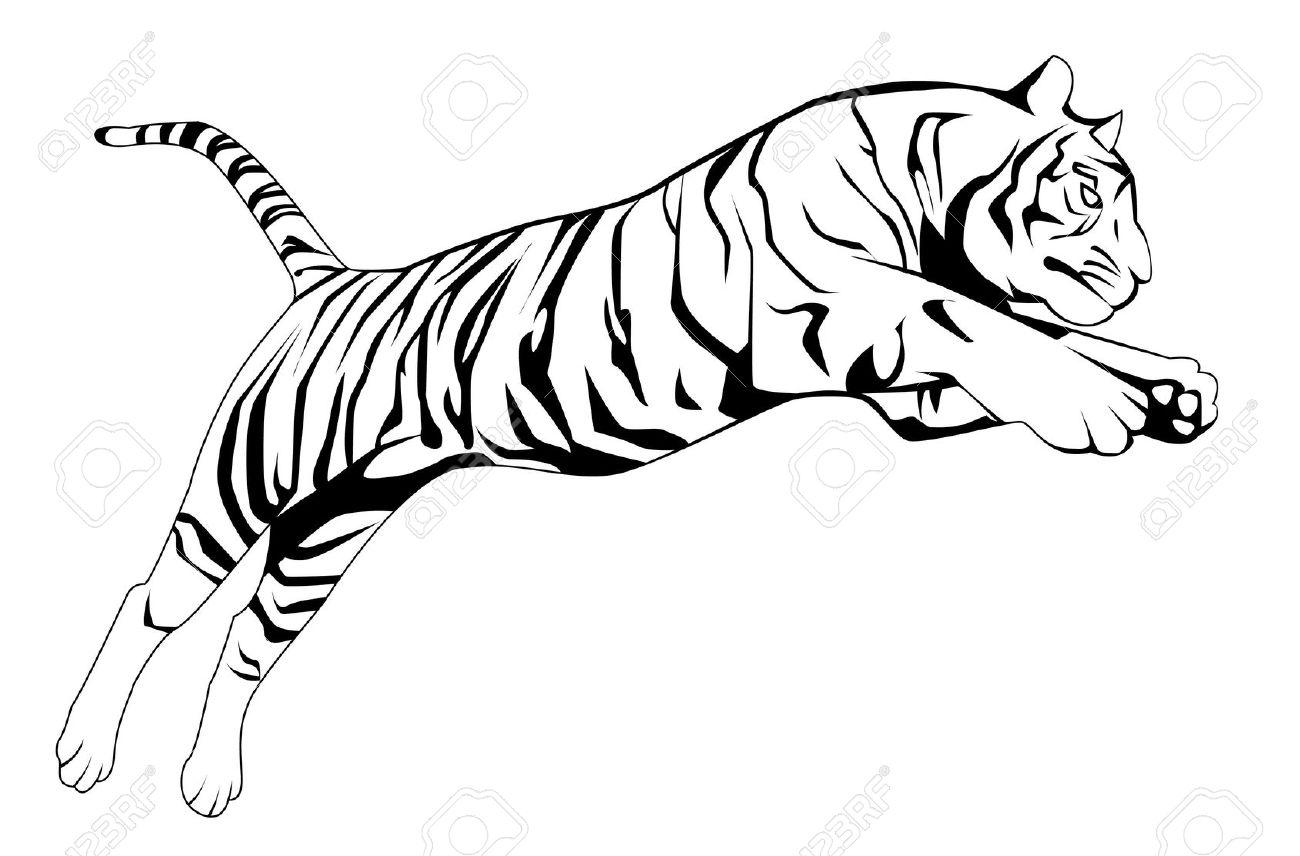 Jumping Tiger Tattoo