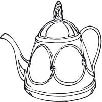 Teapot Coloring Page   ClipArt Best