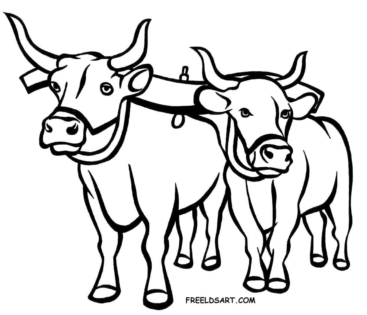 Cartoon Oxen