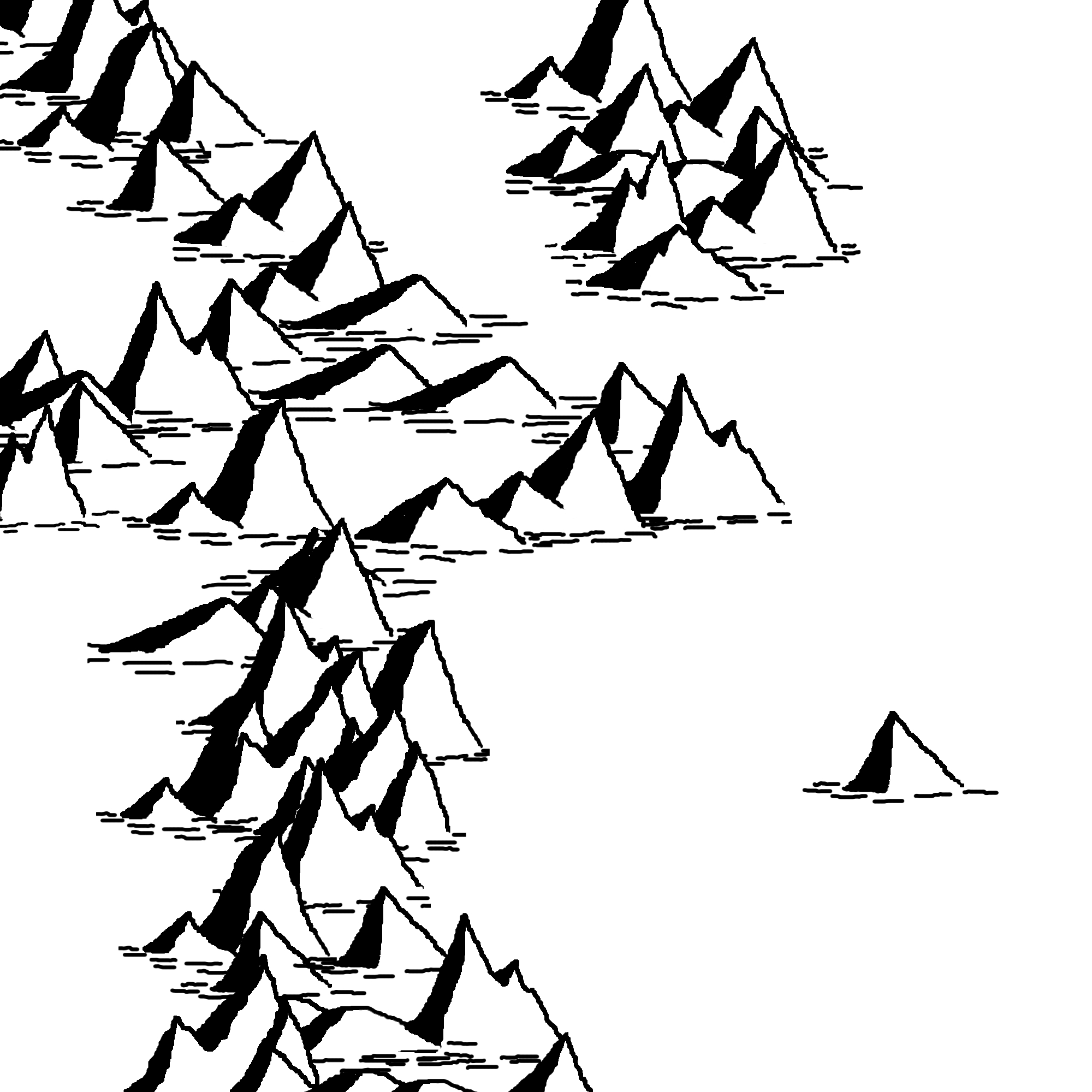 Mountain Line Drawing