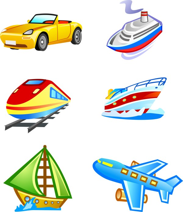 Cute Style Icon Vector Transport Free - Clipart