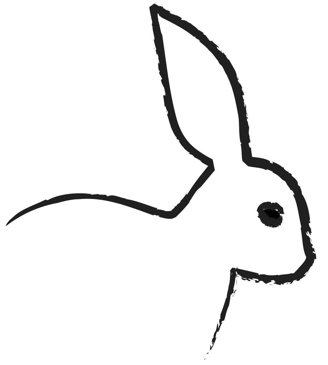 Bunny Head Outline