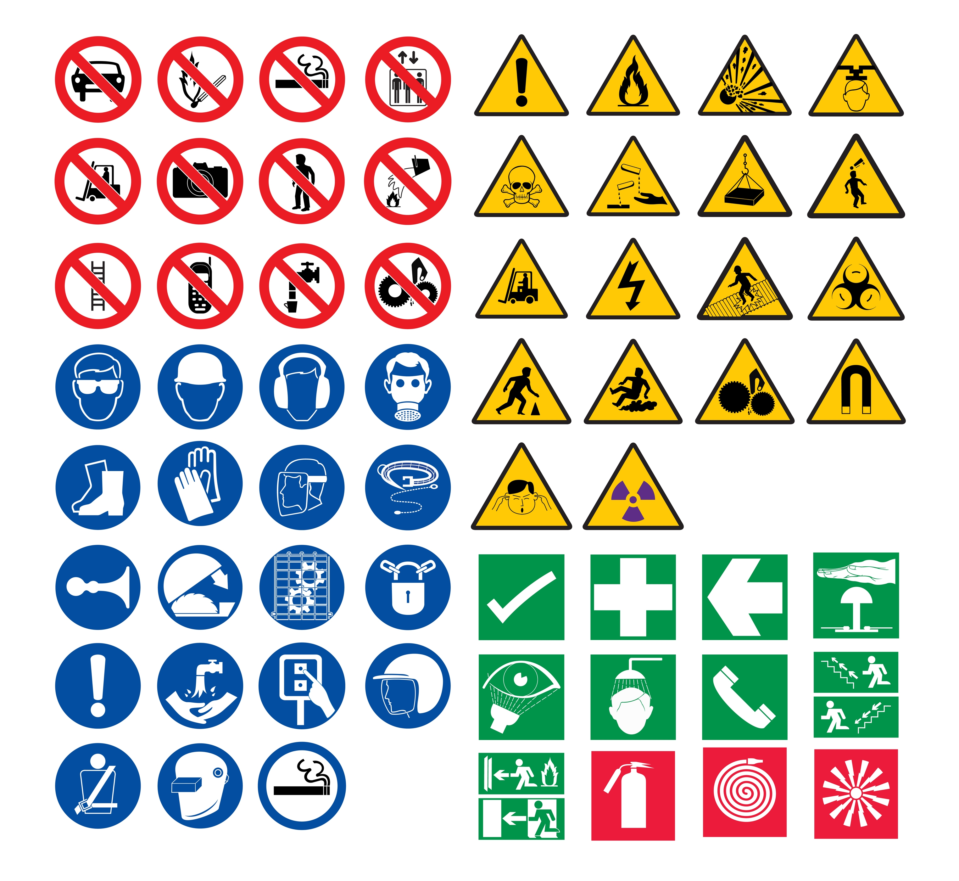 Occupational Health And Safety Signs And Symbols