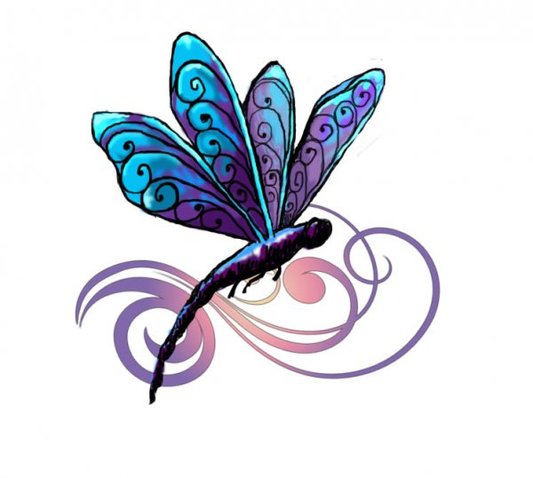 simple dragonfly clipart