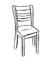 Pix For > Wooden Chair Outline - ClipArt Best - ClipArt Best