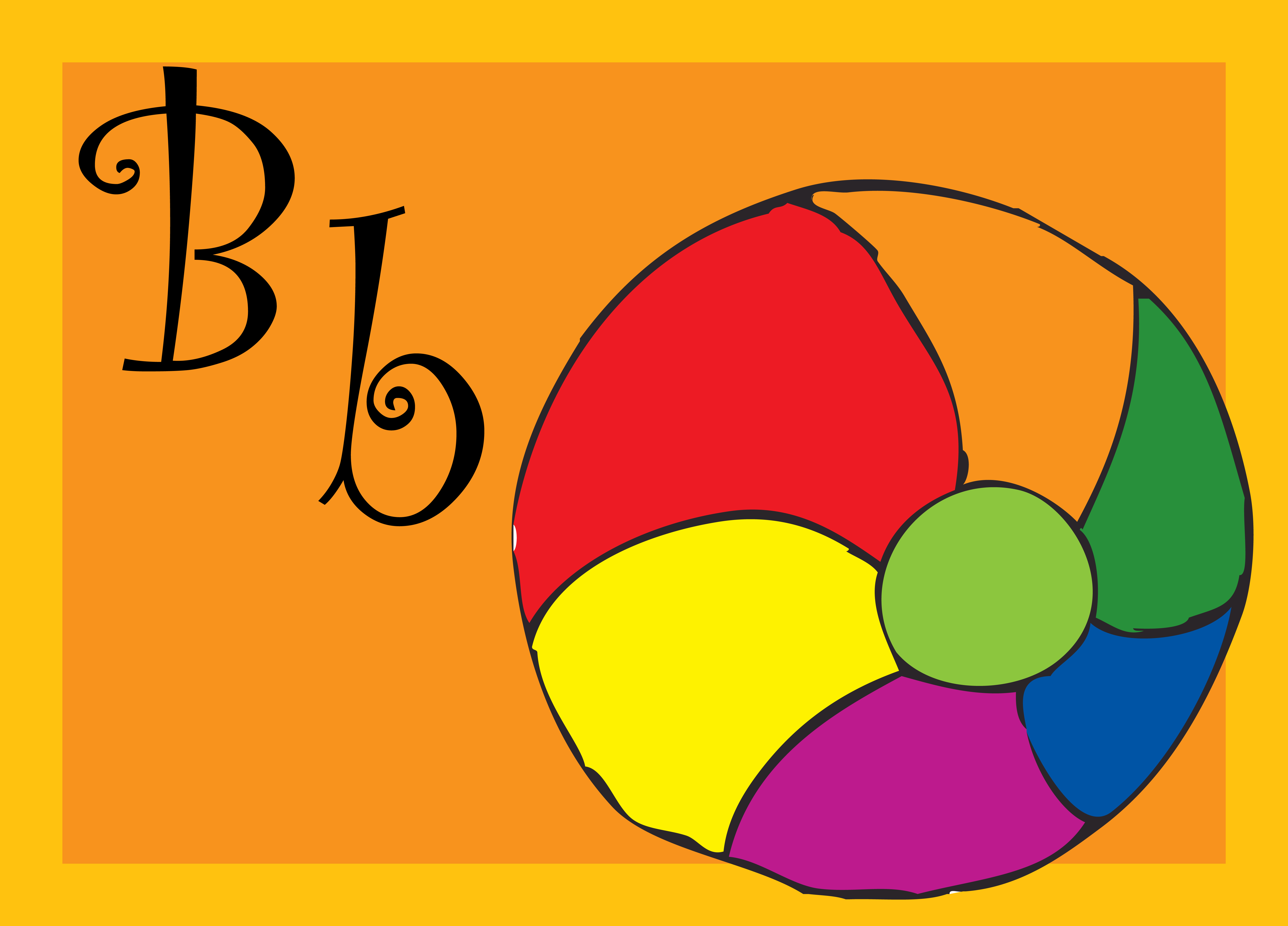 Letter B For Ball Coloring Page