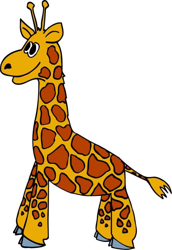 cartoon giraffe - clipart