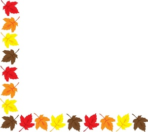 fall borders free - clipart