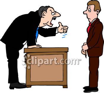 Man Being Fired by the Boss Clip Art Royalty Free Clipart Image