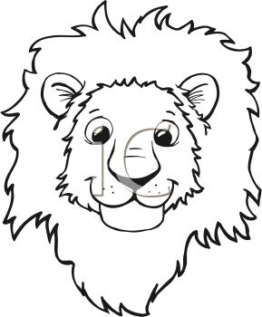 Royalty Free Clipart Image: Black and White Cartoon of a