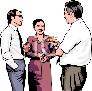 Realistic Style-Cocktail Party for an Office Staff