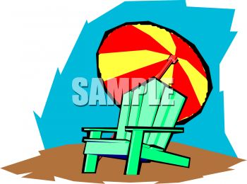 beach chair and umbrella clipart twin sleeper lazy boy a with an royalty free image