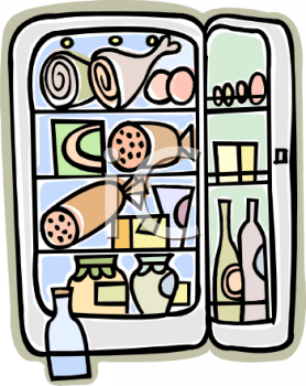 refrigerator clipart png. royalty free clipart image cartoon of a refrigerator full food png