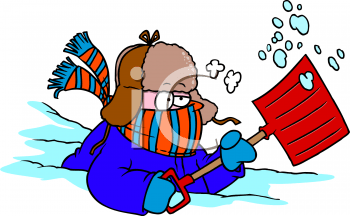 Image result for very cold cartoons shoveling snow