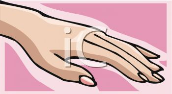 Picture Of A Woman S Hand With Painted Nails In Vector Clip Art Ilration Royalty Free Clipart