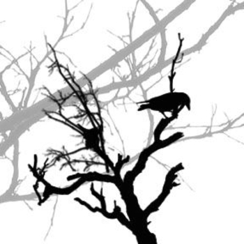 Free Halloween Clipart-Raven in a Dead Tree . Click Here to Get Free Images at Clipart Guide.com