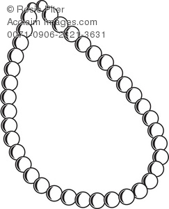 Pearl Necklace Royalty-Free Clip Art Picture