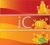 Collection of Autumn Banners  clipart