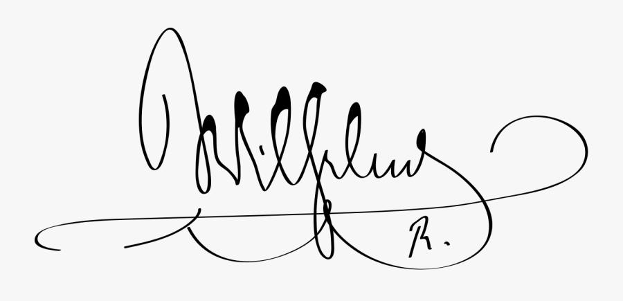 Wilhelm Ii, German Emperor Signature- , Free Transparent