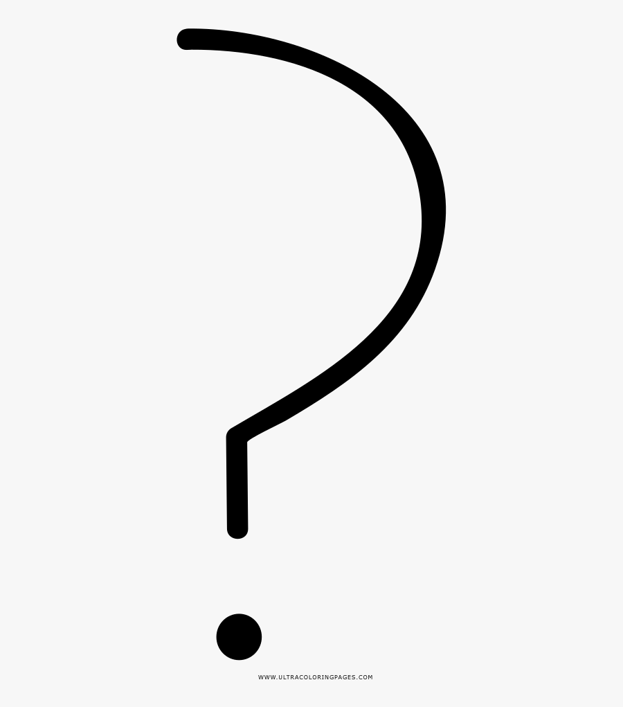 Transparent Black And White Question Mark Clipart , Free