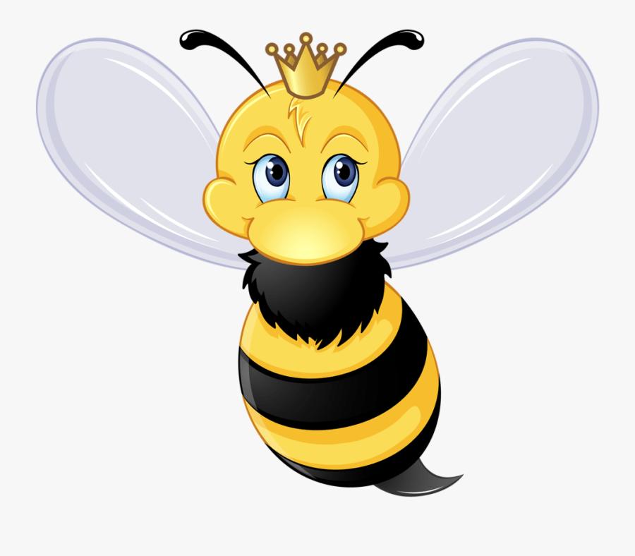 Transparent Bumble Bee Clip Art - Malvorlage Bienenkönigin
