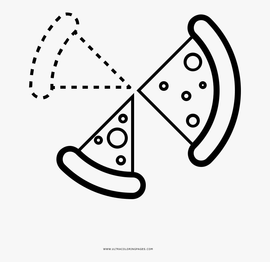 Pizza Slices Coloring Page , Free Transparent Clipart