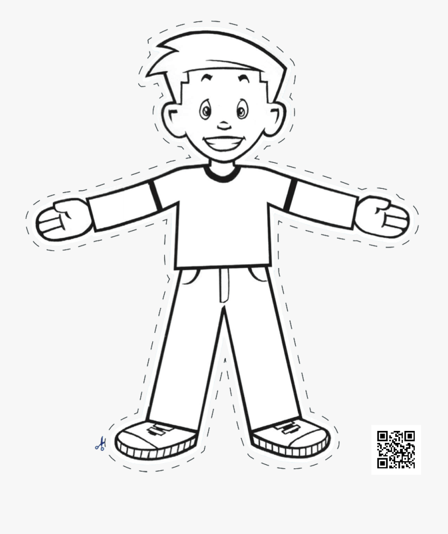 Flat Stanley Cut Out / Template , Free Transparent Clipart