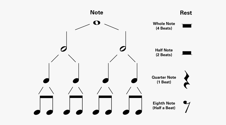 Piano Notes Time Values , Free Transparent Clipart