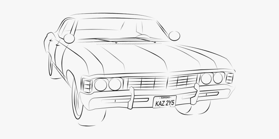 67 Chevy Impala Outline , Free Transparent Clipart