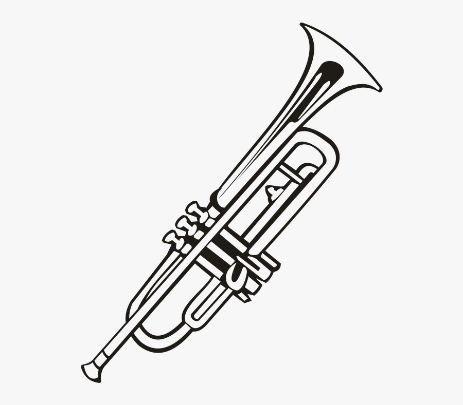 Trumpet, Music, Instrument Music, Notes, Vector Drawing
