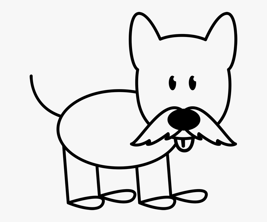 Dog With Mustache Outline Stamp Stick Figure Stamps