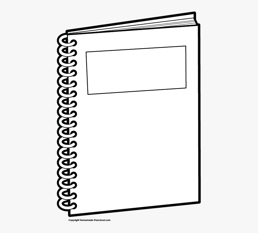Clip Art Coloring Page Notebook , Free Transparent Clipart