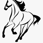 Mustang Horse Clipart Horse Silhouette Line Art Free Transparent Clipart Clipartkey