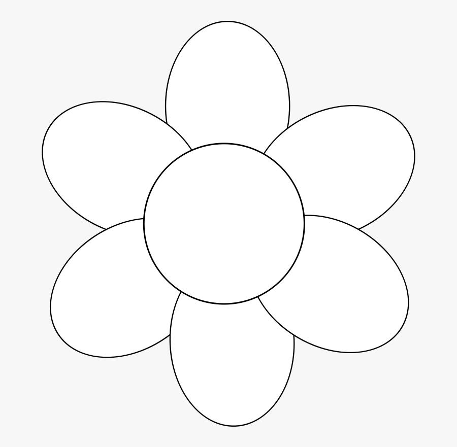 Flower Outline 6 Petals , Free Transparent Clipart