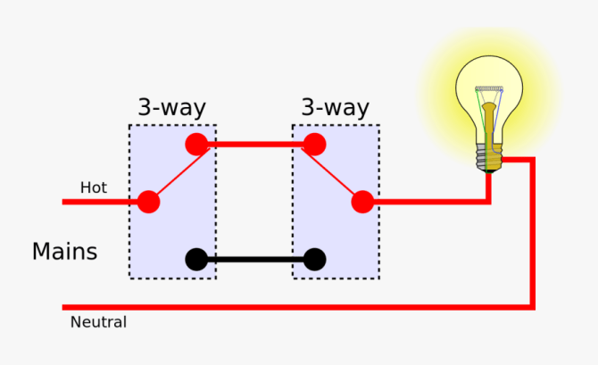 two switches to one light wiring  multiple light 3way