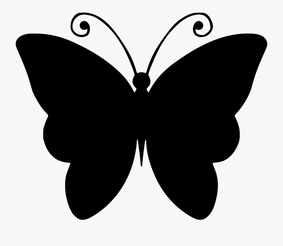 Black And White Butterfly Drawing Clipart Png Download Butterfly Clip Art Outline Free Transparent Clipart Clipartkey