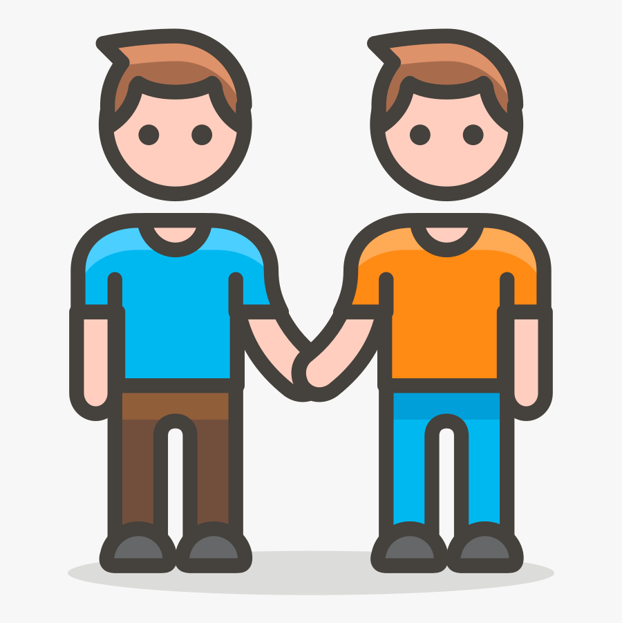 282 Two Men Holding Hands - Two People Holding Hands Cartoon . Free Transparent Clipart - ClipartKey