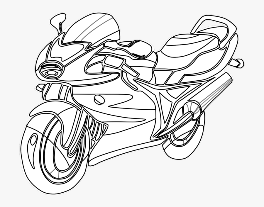 Motorcycle Clipart Black And White , Free Transparent