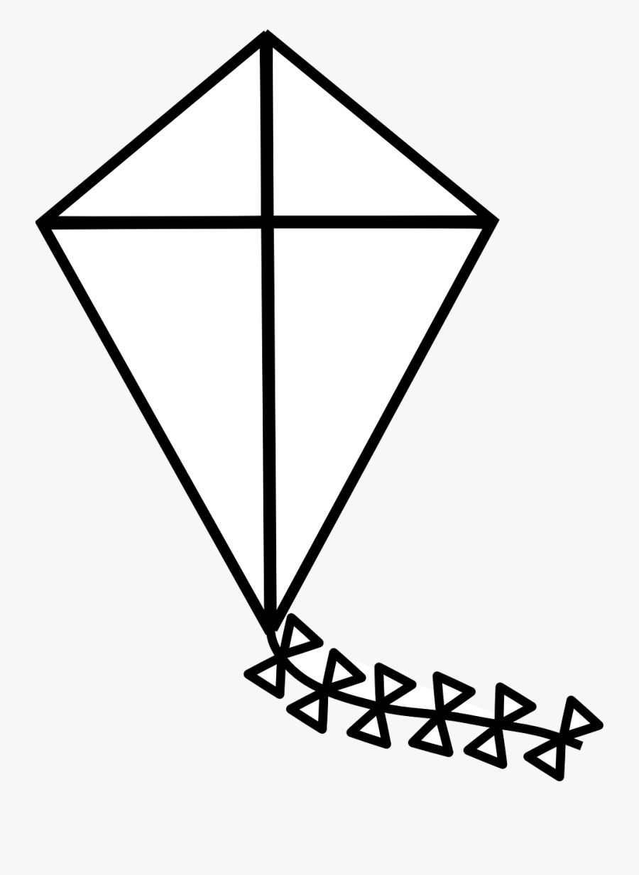Free Printable Coloring Page Of A Kite Kite Black And White Free Transparent Clipart Clipartkey