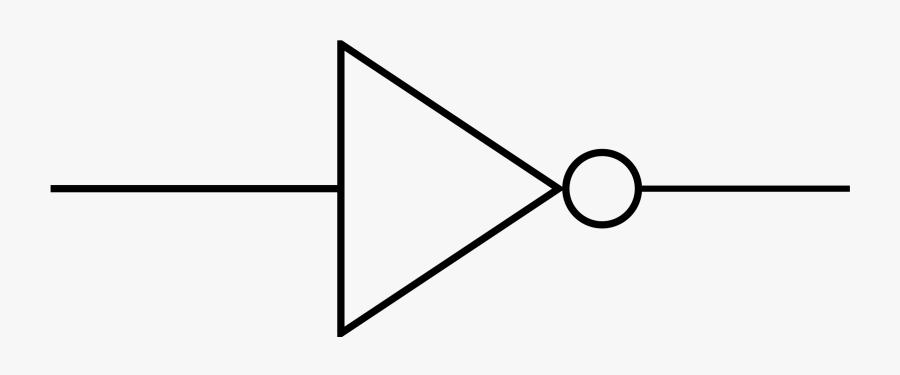 Inverter Circuit Symbol , Free Transparent Clipart