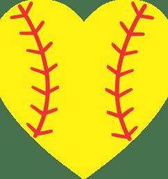 softball heart baseball softball heart clipart 1024x975  [ 1024 x 975 Pixel ]