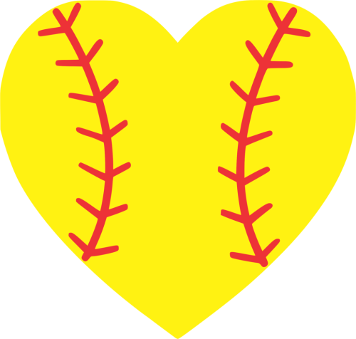 small resolution of softball heart baseball softball heart clipart 1024x975