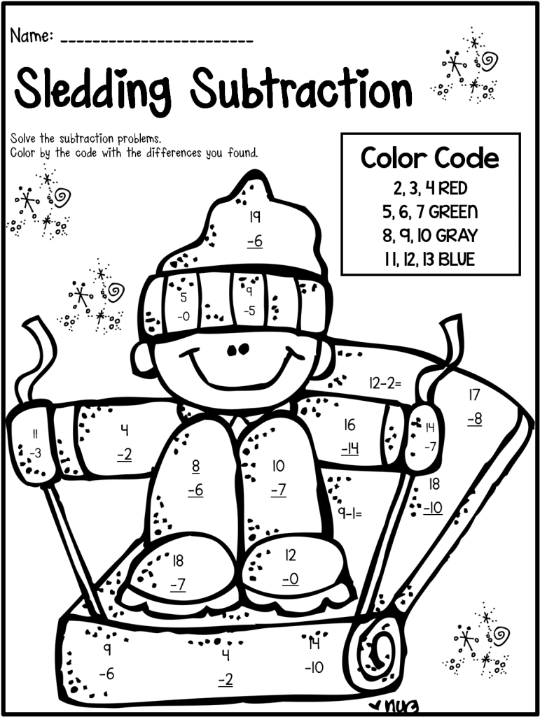 hight resolution of Delighted Winter Theme Activities And Printables For - 1st Grade Fun Maths  Worksheets - (793x1024) Png Clipart Download