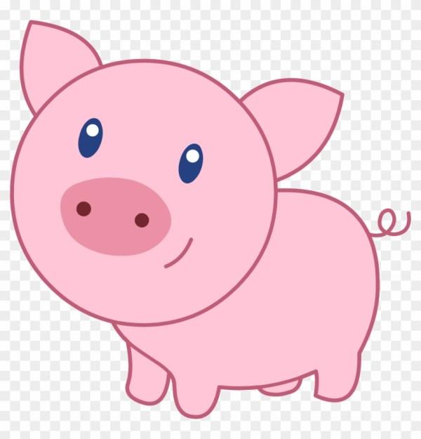 cute cartoon pig clipart